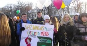 """Daugiau nei 600 Kauno moksleivių dalyvavo akcijoje ,,Sąžiningas pilietis – Lietuvos ateitis"""""""