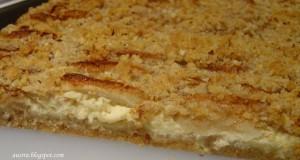 Obuolių ir maskarponės sūrio plokštainis
