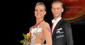 Šokėjai I. Žukauskaitė ir E. Sodeika pasaulio čempionate iškovojo bronzos medalius
