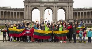 """Gausus būrys Belgijos lietuvių prisijungė prie pagarbos bėgimo """"Gyvybės ir mirties keliu"""""""