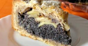 Obuolių pyragas su aguonų sluoksniu