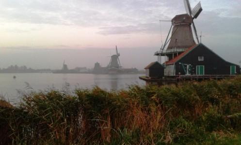 Malūnų kaimelis Olandijoje
