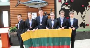 Lietuvos atstovai tarptautinėje jaunių gamtos mokslų olimpiadoje pelnė bronzos medalius