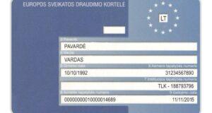 Primenama: Europos sveikatos draudimo kortele naudotis gali tik apdraustieji PSD