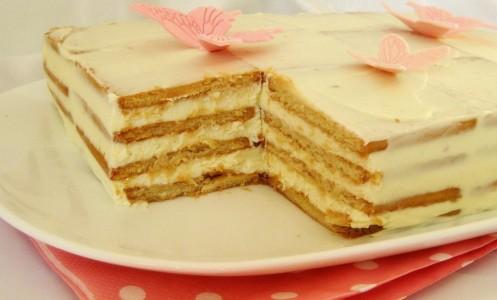 Citrininis sausainių tortas (nekeptas)
