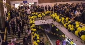 Tūkstančiai jaunuolių penktadienio naktį leido universitete