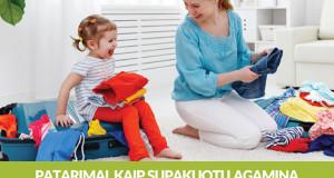 Gudrybės, padėsiančios kompaktiškai susikrauti lagaminą