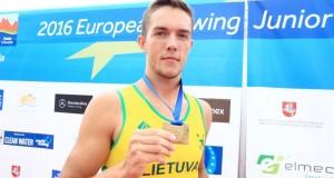 Irkluotojas Armandas Kelmelis tapo Europos jaunių čempionu
