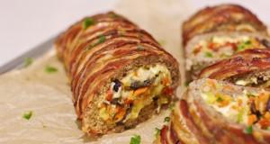 Mėsos vyniotinis su daržovių ir sūrio įdaru