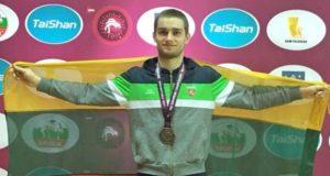 Justui Petravičiui – Europos jaunimo imtynių čempionato bronza