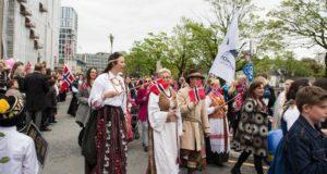 Lietuviai sveikino norvegus Nacionalinės dienos proga