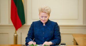 Prezidentė siūlo priemones efektyvesnei kovai su korupcija