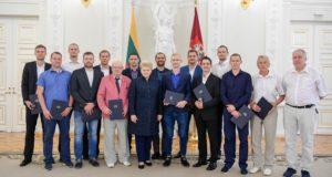 Prezidentė apdovanojo Kurčiųjų vasaros olimpinėse žaidynėse medalius iškovojusius šalies sportininkus