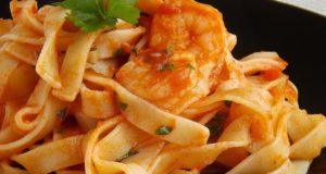 Itališki makaronai su aštriomis krevetėmis