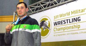 M. Knystautui – pasaulio kariškių imtynių čempionato auksas
