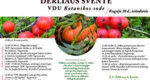 Derliaus šventėje Kaune – įdomios paskaitos ir sodo gėrybių degustacijos