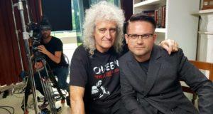 """E. Žičkus atskleidė išskirtinio interviu su """"Queen"""" gitaristu Brianu May detales"""