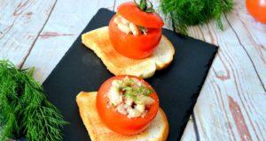 Tunu ir pupelėmis įdaryti pomidorai