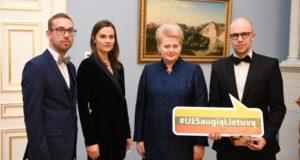 """Prie kampanijos """"Už saugią Lietuvą"""" prisijungė ir Jurga Šeduikytė su Vidu Bareikiu"""