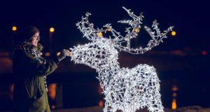 Kalėdine šviesų pasaka viliojantis Santakos parkas stebina kauniečius