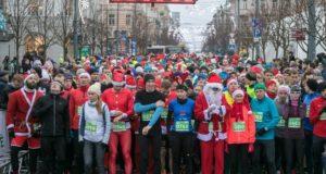 Vilniuje šventes pirmieji pasitiko bėgikai