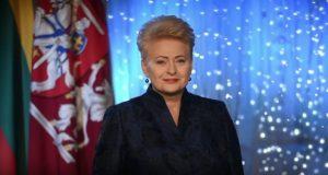 Prezidentės sveikinimas šalies žmonėms Naujųjų metų proga