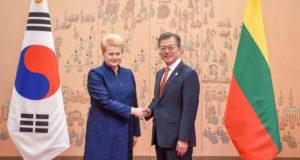 Lietuvos ir Pietų Korėjos Prezidentai aptarė bendradarbiavimo perspektyvas