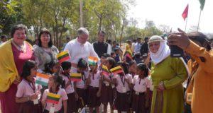 Lietuvos himnas skambėjo ir prie šventyklos Pietų Indijoje