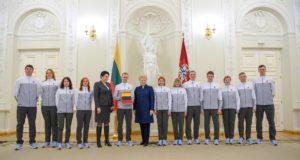 Šalies olimpiečiams – išskirtinis 100-metį švenčiančios Lietuvos palaikymas