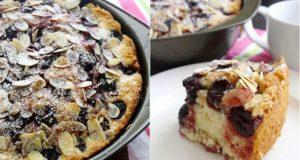 Migdolinis uogų pyragas