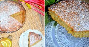 Prancūziškas rabarbarų pyragas