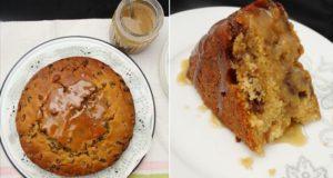 Pyragas su razinomis ir karamelės padažu