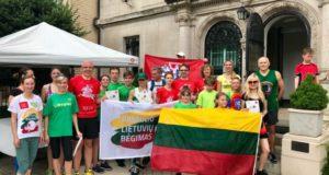 """Vašingtone surengtas pasaulio lietuvių bėgimas """"Penki už Lietuvą"""""""