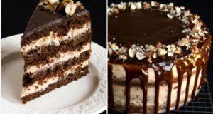 Šokoladinis tortas su lazdynų riešutais