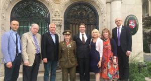 Ambasadoje Vašingtone apsilankė legendinis laisvės kovų dalyvis Juozas Jakavonis-Tigras