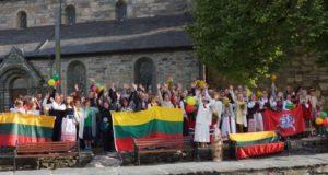 NORVEGIJA. Atkurtos Lietuvos šimtmečio himnas Stavangeryje