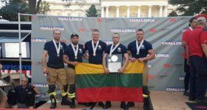 Ugniagesių pasaulio čempionate lietuviai iškovojo trečiąją vietą