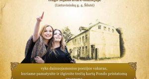 """Hugo Šojaus muziejuje – jausmingas koncertas """"Pašauktas vardu"""""""